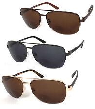 Retro Mens Aviator 60mm Bifocal Tinted Sun Reader Reading Sunglasses - RE70