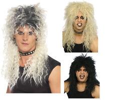 1980s Blonde Mullet Wig Unisex Hard Rocker 80s Fancy Dress Wig