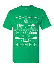 Star Wars Ugly Sweater Design Funny Christmas Men's Tee Shirt 1039
