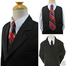 Boy Kid Infant Toddler Teen Formal Wedding Tuxedo 6pc Suit Vest EXTRA Tie#9 S-20