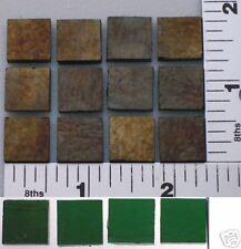 """12-1/2""""x 1/2"""" 3mm Dark Green Irid Bullseye Glass 90 Coe"""