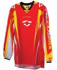 YOUTH / KIDS ALLOY 06 PULSE MOTOCROSS MX JERSEY RED YELLOW bike race shirt