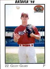 1998 Batavia Muckdogs Team Issue #10 Geoff Geary El Cajon California CA Card