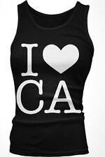 I Love CA - Cali California Love Pride Hollywood Boy Beater Tank Top