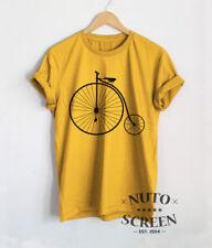 Bicycle T-Shirt Penny Farthing Shirt Biking Vintage Retro Bike Men Tops Tees