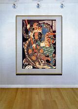 Samurai & Dragon 30x44 Japanese Art Print by KuniyoshiAsian Art Japan Warrior