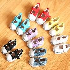 5cm Doll Shoes Canvas Mini Toy Shoes1/6 Bjd For Russian  Doll SneackersAQ