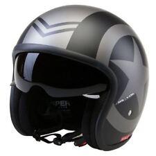 Viper Matt Black Star RS-V06 Open Face Cruiser Custom Motorcycle Scooter Helmet