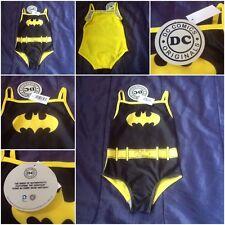 Official Licenced Batman Bat man Logo Girls Swimming Costume Girl Swim Suit Kid