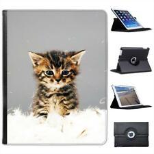 Cute Kitten Cat Folio Wallet Leather Case For iPad 2, 3 & 4