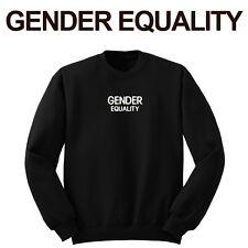 GENDER EQUALITY Sweatshirt Pullover Sweater Shirt Black no hood