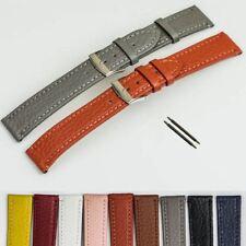 Clásico Señoras Reloj Correa de cuero genuino Cosido Multi Color Banda 12-20mm