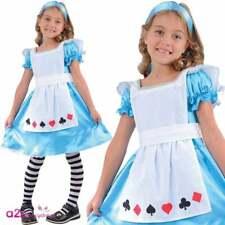 STORYBOOK ALICE DANS WONDERLAND FILLES FANCY DRESS COSTUME CARNAVAL FESTIVAL