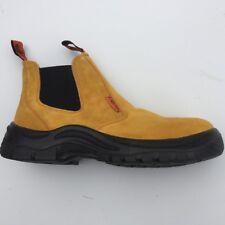 work boots steel cap popular mustard colour easy slip on style mens au sizes au