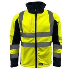 Standsafe Reflective Hi Vis Soft Shell Work Jacket, Water Resistant