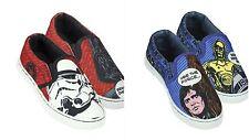 NUOVO Ragazzo Con Licenza Disney personaggio di Star Wars Scarpe di tela tonalità blu e rosso