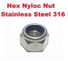 Hex Nyloc Nut M3 M4 M5 M6 M8 M10 M12 M16 Marine Grade Stainless Steel 316