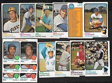 1973 OPC O PEE CHEE MLB BASEBALL CARD 1-132 SEE LIST