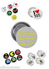 Spille Spillette Pins Gadget Personalizzate diametro 38 ø mm.
