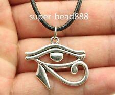 NEW 1pcs Antique Silver Rah Egypt Eye Of Horus Egyptian Charms Pendants Necklace