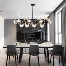 16 heads Dining Room chandelier modern LED glass ball DNA molecule pendant light