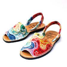 Avarcas spanish Leather Sandals Espadrilles Leder Sandalen flach Menorquinas