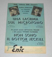Spartiti GORNI KRAMER Una lacrima sul microfono Non sono il dottor Jeckill 1954