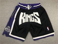 New Sacramento Kings Basketball Shorts Stitched Retro Men's Pants NWT