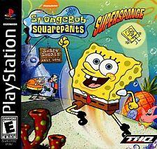 SpongeBob SquarePants: SuperSponge (Sony PlayStation 1, 2001) PS1 Video Game