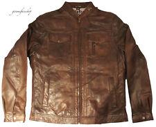 véritable cuir luxueux hommes Aviatrix Veste, MOTARD nevada marron, Style