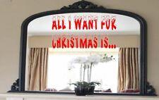Calcomanía de Navidad todo lo que quiero para Navidad es.. Vinilo Pared Arte Pegatina festivo