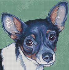 Cross stitch chart-KIT RAT TERRIER DOG 2