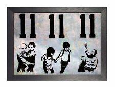 Banksy 11 A3 X 9 Hi GRAFFITI Illustrated Poster British Street Art Kids Picture