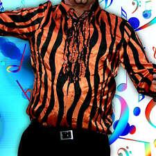 Rüschenhemd 70er Jahre Disco Hemd, 70s Retro Hippie Party Karneval Verkleidung