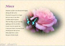 Nièce-Personnalisé poème (cadeau)