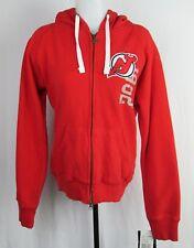 New Jersey Devils Women's Red Zip Up Hoodie NHL (M, L)