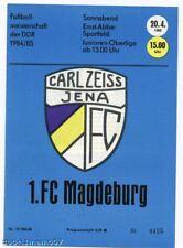 PRG   DDR-OL   84/85   CARL ZEISS JENA - 1.FC MAGDEBURG