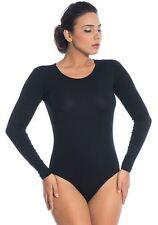 Gute Qualität Damen Body Langarmbody Baumwolle Bluse Body Ballettanzug Trikot