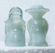 Boyd Glass Eli & Sarah Amish Couple Marshmallow (white)