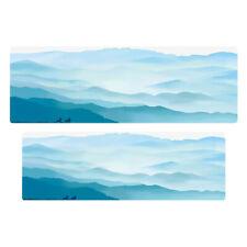 Traditional Mountain Pattern Absorbent Door Mats Anti-slip Shoe Scraper