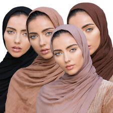 100% Rayon Muslim Women Ladies Maxi Hijab Scarf Shawl Soft Islamic Stole Scarves