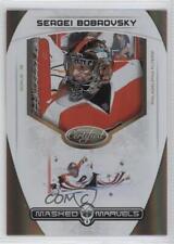2011 Panini Certified Masked Marvels Mirror Gold #1 Sergei Bobrovsky Hockey Card
