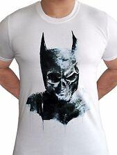 Batman Cráneo Gótico con licencia DC Comics Liga De La Justicia blanco hombre camiseta