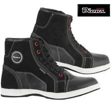 Diora Vista Waterproof Leather Casual Retro Short Boot Motorcycle Bike Black