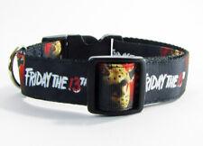 "Friday the 13th dog collar handmade adjustable buckle collar 1"" wide or leash"