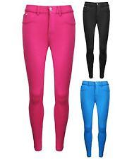 Damas Mujeres Estrás corona Tachuelas Calce Ajustado Leggings Skinny Jeans Pantalones 6-14