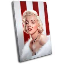 Marylin Monroe Iconic Celebrities SINGLE CANVAS WALL ART Picture Print VA