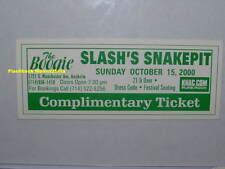 SLASH'S SNAKEPIT Unused MINT Concert Ticket 2000 ANAHEIM The Boogie GUNS N ROSES