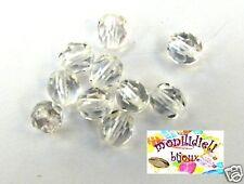 BIGIOTTERIA PERLINE- 20 mezzi cristalli 6mm - crystal
