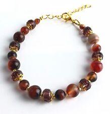 Bracelet Jasper pierres semi-précieuses Naturelle Cristal  pochette cadeau